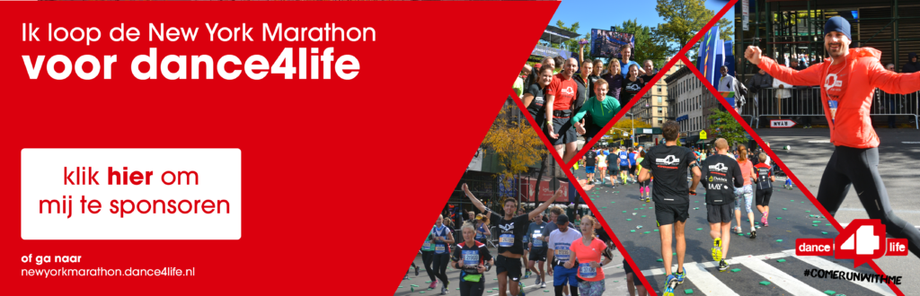 Banner to sponsor Tilly Kammeron to run the NYC marathon for dance4life