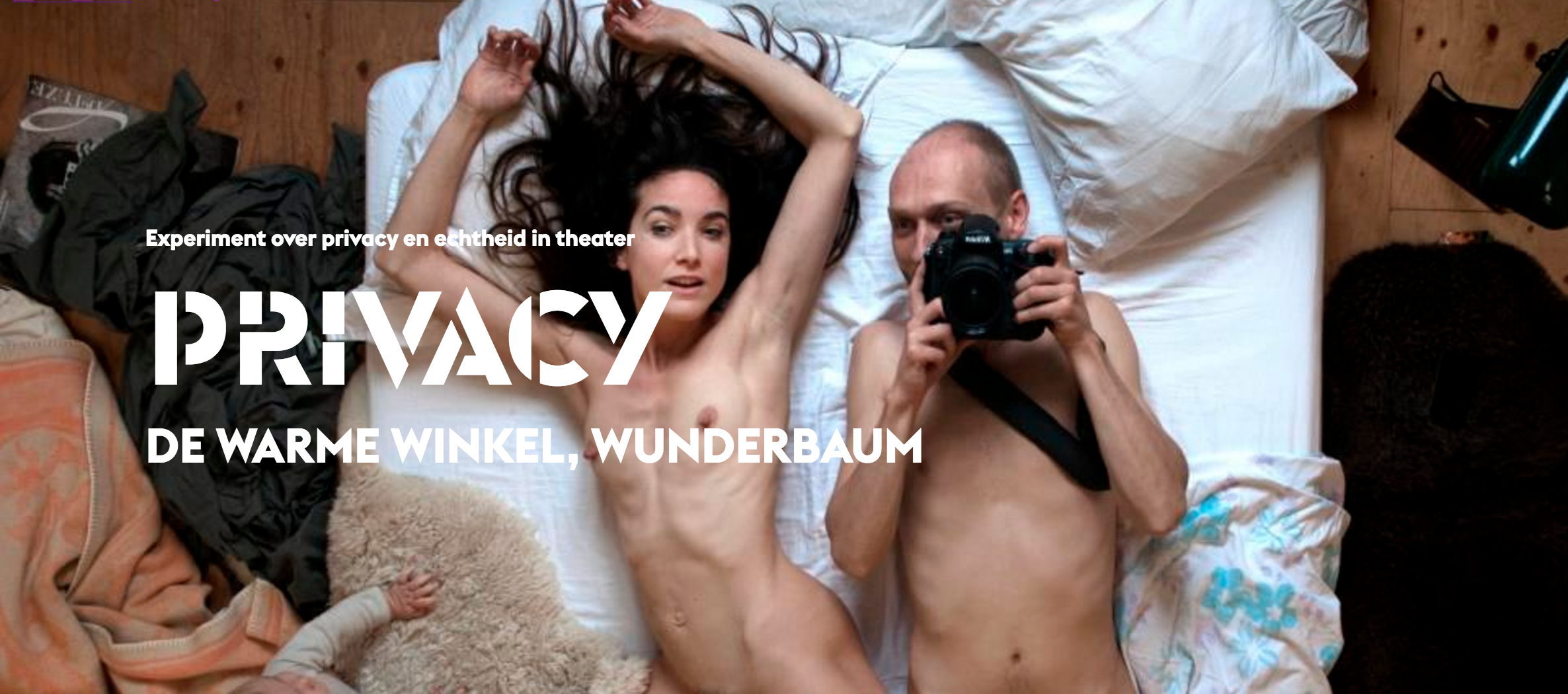 leaflet for Privacy, a play by actor's cooperatives de warme winkel and wunderbaum for holland festival